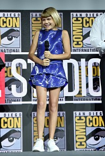 SAN DIEGO, CALIFORNIA - JULY 20: Lia McHugh of Marvel Studios' 'The Eternals' at the San Diego Comic-Con International 2019 Marvel Studios Panel in Hall H on July 20, 2019 in San Diego, California. (Photo by Alberto E. Rodriguez/Getty Images for Disney)