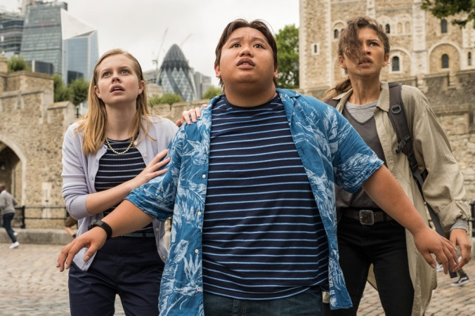 Angourie Rice, Jacob Batalon and Zendaya in Columbia Pictures' SPIDER-MAN: ™ FAR FROM HOME.
