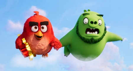 Red (Jason Sudeikis) and Leonard (Bill Hader) in Columbia Pictures and Rovio Animations' ANGRY BIRDS 2.