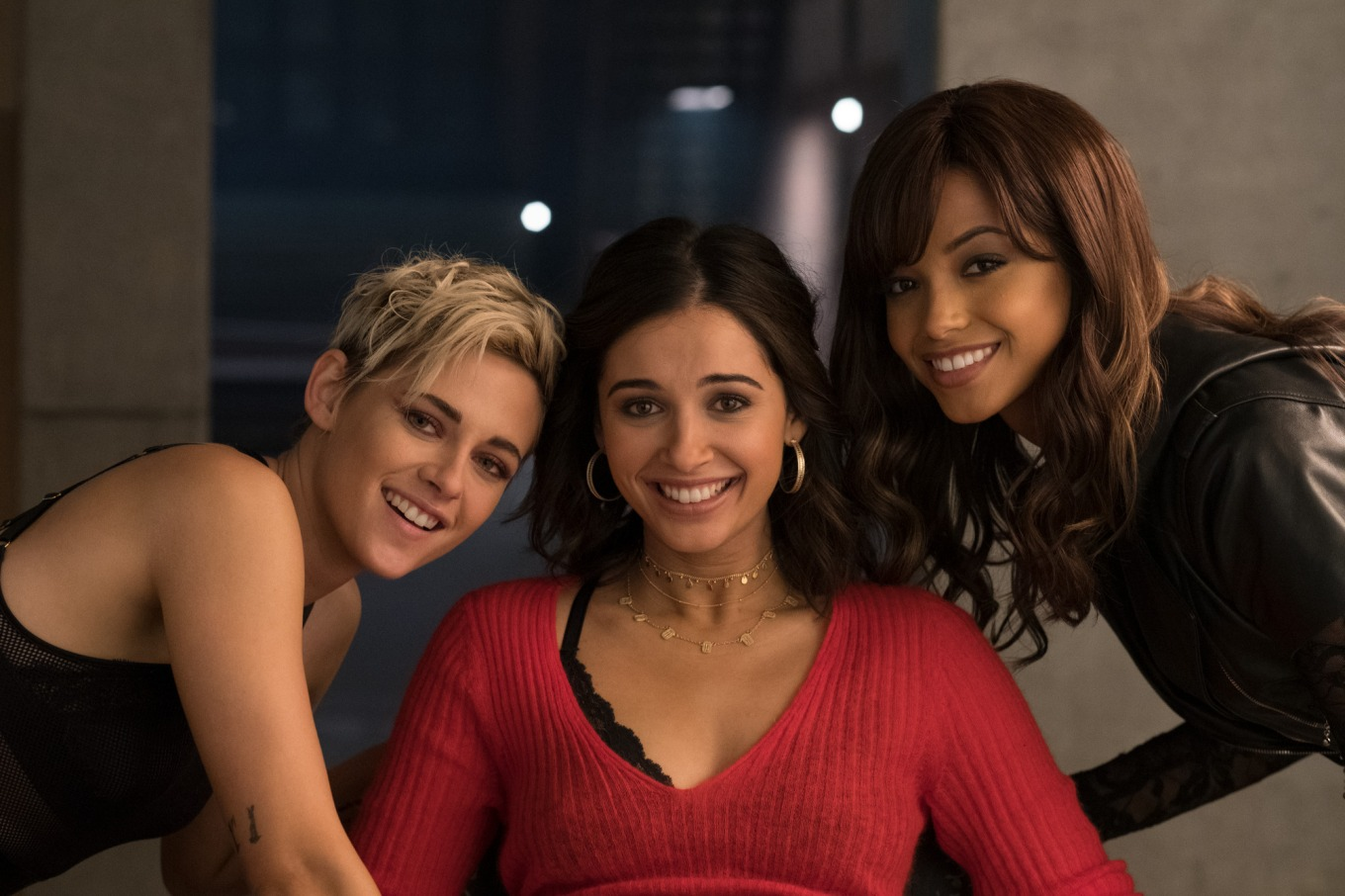 Kristen Stewart, Naomi Scot, and Ella Balinska star in Charlie's Angels.