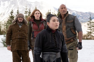 Jack Black, Karen Gillan, Dwayne Johnson and Awkwafina star in Jumanji: The Next Level