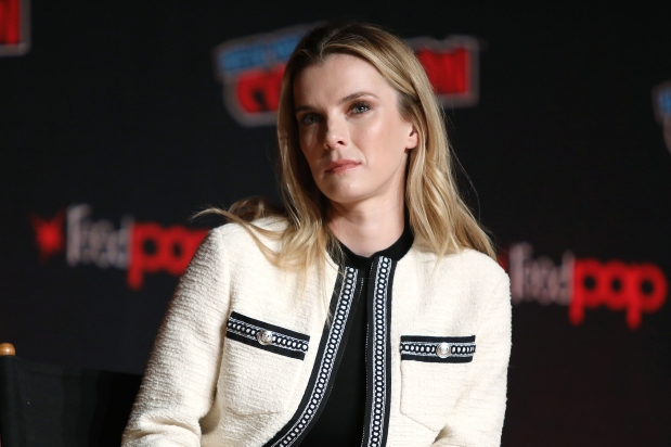 "- New York, NY - 10/3/19 - ""The Grudge"" at New York Comic Con 2019. -Pictured: Betty Gilpin -Photo by: Kristina Bumphrey/StarPix -Location: Jacob Javits Center NY"