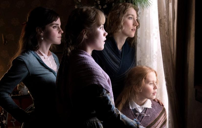 Emma Watson, Saoirse Ronan, Eliza Scanlen and Florence Pugh in Columbia Pictures' LITTLE WOMEN.