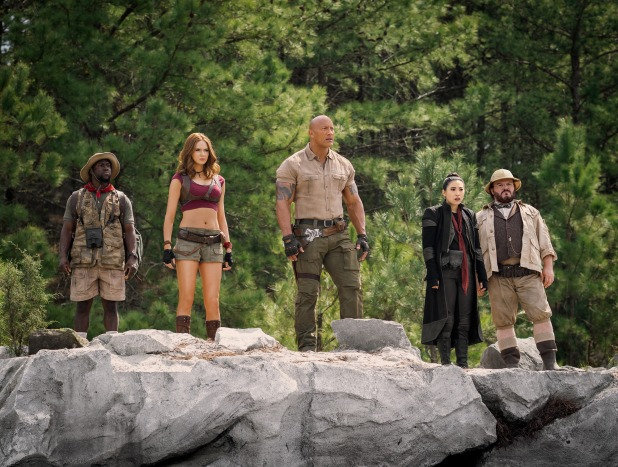 Kevin Hart, Karen Gillan, Dwayne Johnson, Awkwafina and Jack Black star in JUMANJI: THE NEXT LEVEL