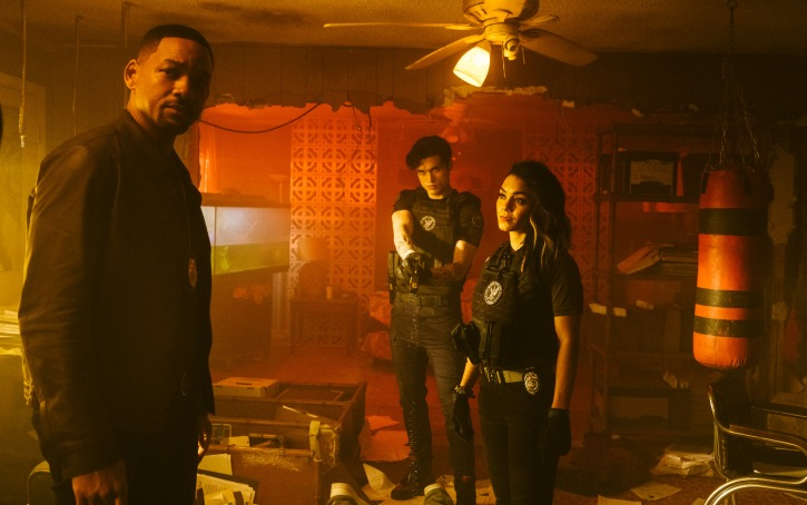 Mike Lowrey (WILL SMITH), Rafe (CHARLES MELTON and Kelly (VANESSA HUDGENS) track down a lead in Columbia Pictures' BAD BOYS FOR LIFE.