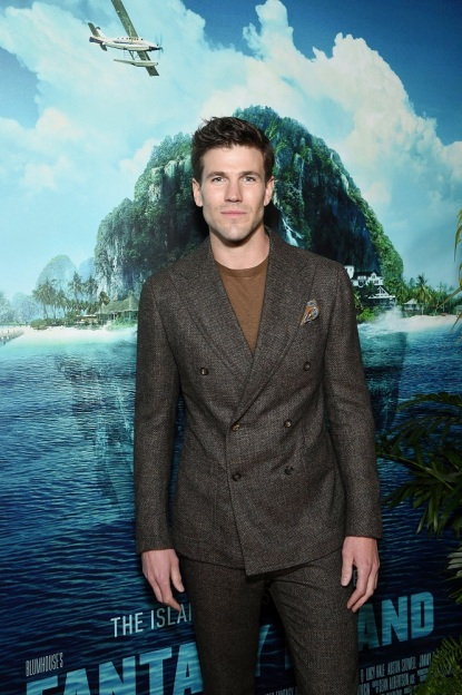 Century City, CA - February 11, 2020: Austin Stowell at the Los Angeles premiere of Columbia Pictures' BLUMHOUSE'S FANTASY ISLAND.