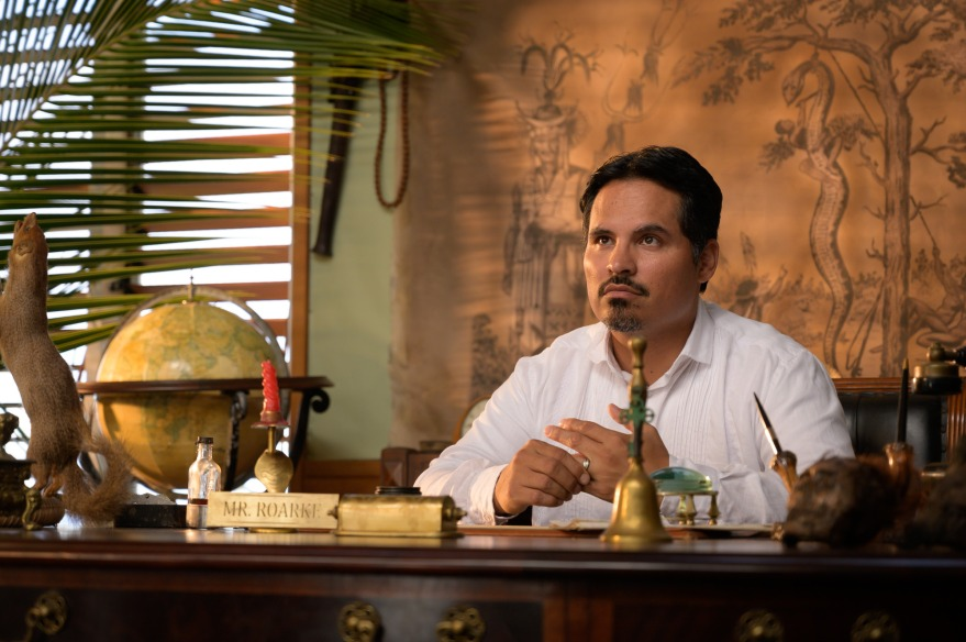 Michael Peña is Mr. Roarke in Columbia Pictures' BLUMHOUSE'S FANTASY ISLAND.